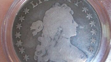"The coin I ""lost"" - a 1799 Draped Bust silver dollar. photo by Joshua at The Fun Times Guide"