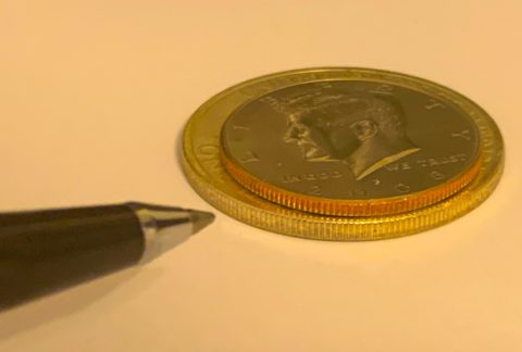Coins with rim errors and edge errors