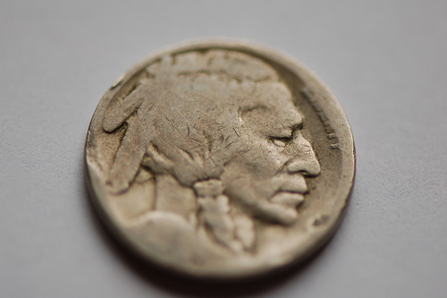 The Buffalo nickel — the design of the United States' 5-cent coin ...