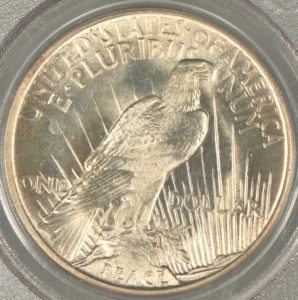 1921 Peace Silver Dollar - reverse side