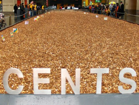 Pennies are so plentiful, they're often used in displays, experiments, and DIY projects!