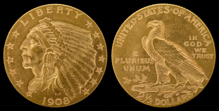 This is a $2.50 Indian Head Quarter Eagle gold coin - $2.50 gold coin