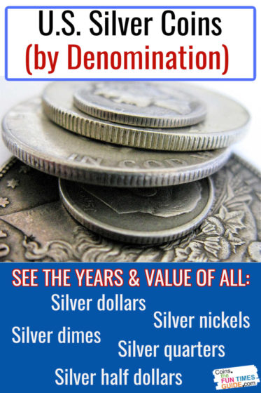 All silver U.S. coins by denomination... and how much they're worth!