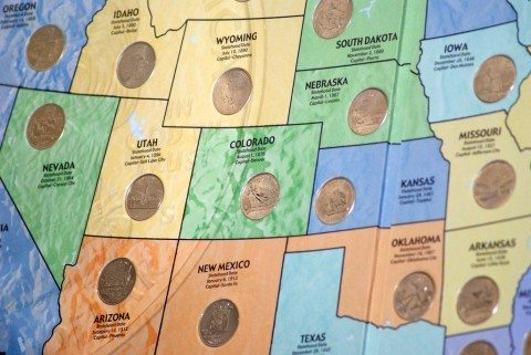 State quarter map.