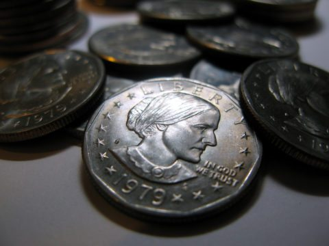 Susan B. Anthony dollar coins are not circulating well in the United States.