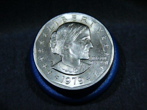 Susan B. Anthony dollar coins were quite unpopular. They were struck during the short period of 1979 to 1981, with one last year of mintage in 1999 to supplement the growing need for dollar coinage.