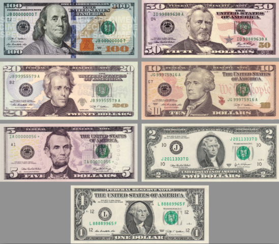 Us Paper Money Bills