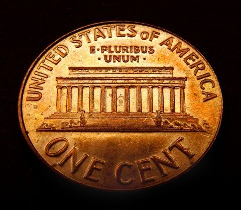 The Lincoln Memorial appeared on the U.S. penny from 1959 through 2008.