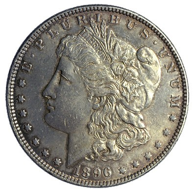 VAM varieties occur on Morgan dollars like this one, and on Peace silver dollars as well
