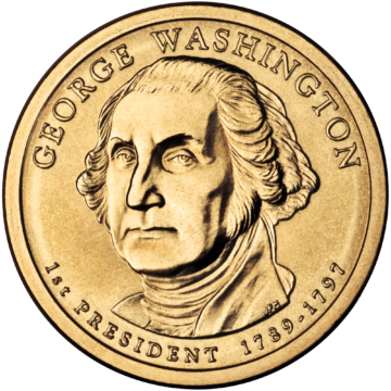 2007 George Washington Dollar Coin
