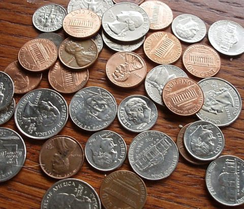 What are coins made of in the United States?