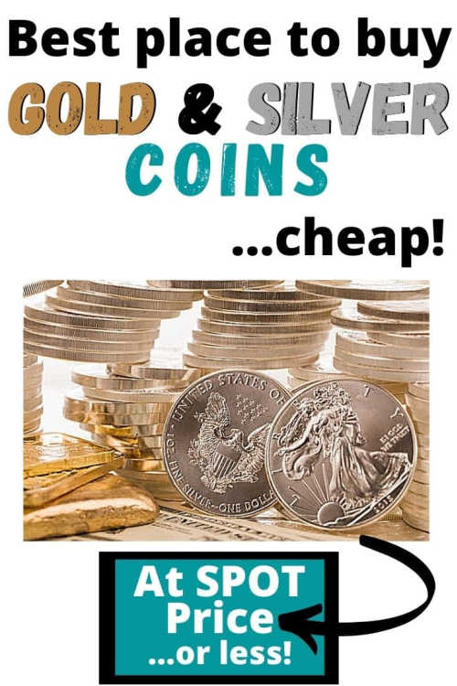 See where you can buy gold and silver coins cheap! (At or below spot value.)