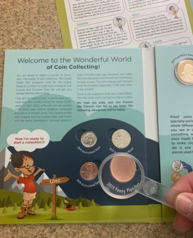 This coin collecting starter set does a great job of introducing young coin collectors to the world of numismatics.