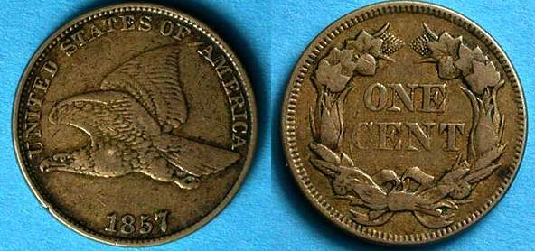 Flying Eagle cents, which were struck for 3 short years (1856 to 1858) were