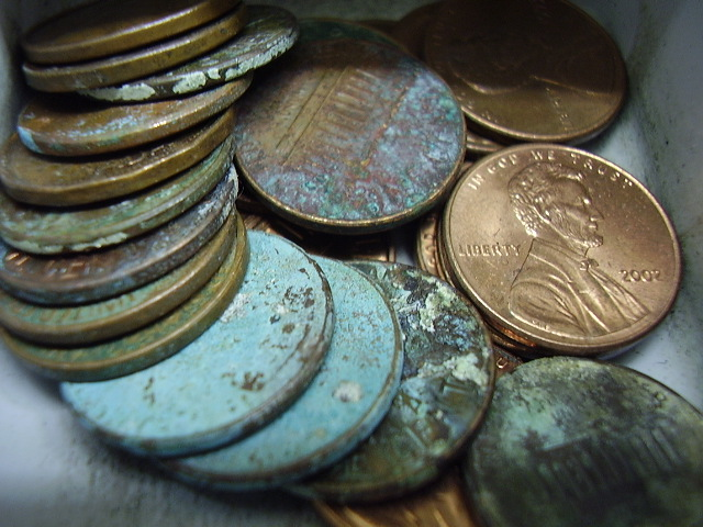 cleaning old coins